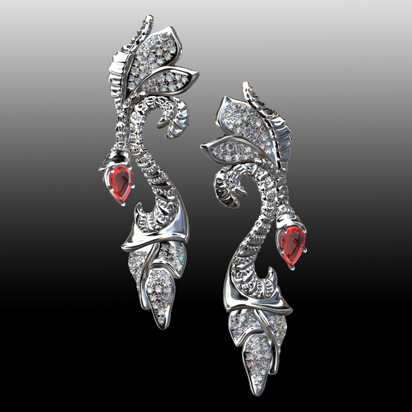AndreaKoenig_Ruby and Diamond Earrings_600